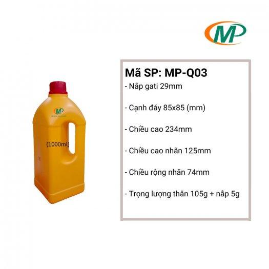 Chai nhựa 1 Lít tròn, Chai nhựa 1 Lít HDPE15