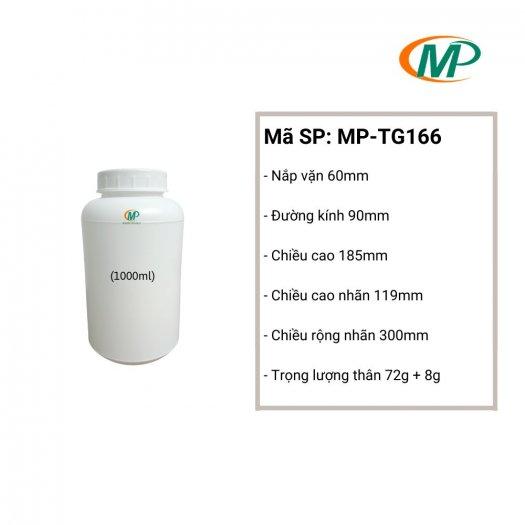 Chai nhựa 1 Lít tròn, Chai nhựa 1 Lít HDPE1