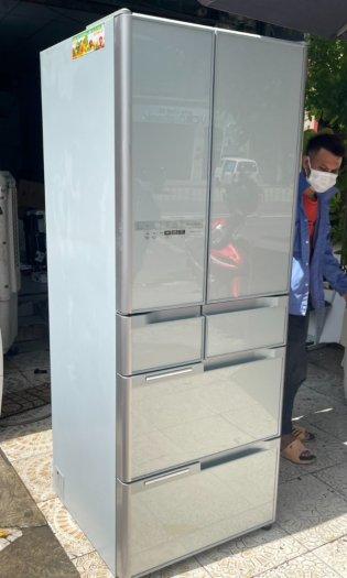 Tủ lạnh HITACHI R-C5200 6 cánh, mặt gương Xám xanh, 517Lít, Date 20139