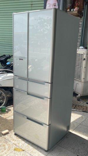 Tủ lạnh HITACHI R-C5200 6 cánh, mặt gương Xám xanh, 517Lít, Date 20138