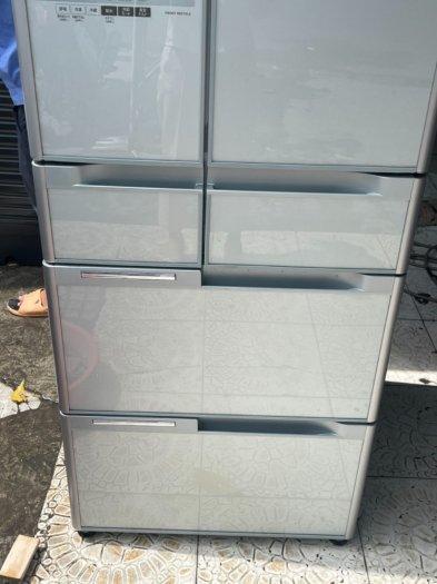 Tủ lạnh HITACHI R-C5200 6 cánh, mặt gương Xám xanh, 517Lít, Date 20136
