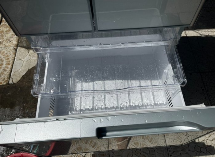 Tủ lạnh HITACHI R-C5200 6 cánh, mặt gương Xám xanh, 517Lít, Date 20131