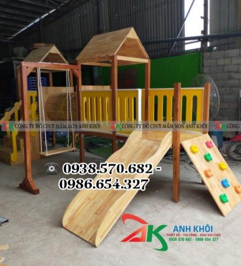 Sản xuất cầu trượt gỗ giá rẻ0