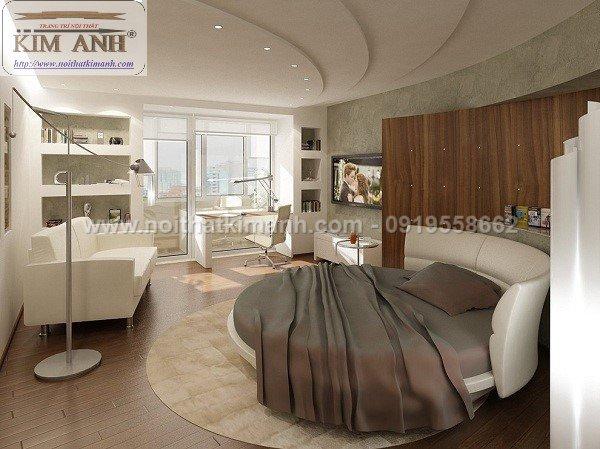 Giường tròn giá tại xưởng cho khách sạn tại Bến Cát, Bình Dương4