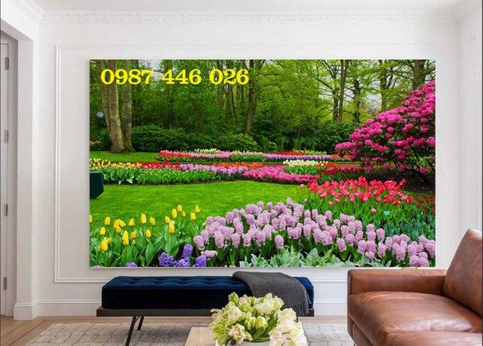Tranh gạch men vườn hoa ốp tường 3d HP08984