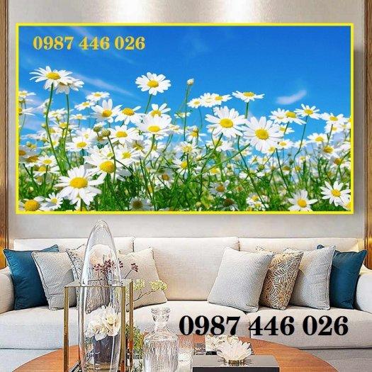 Tranh gạch men vườn hoa ốp tường 3d HP08983