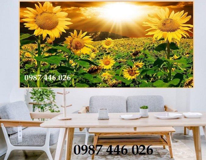 Tranh gạch men vườn hoa ốp tường 3d HP08982