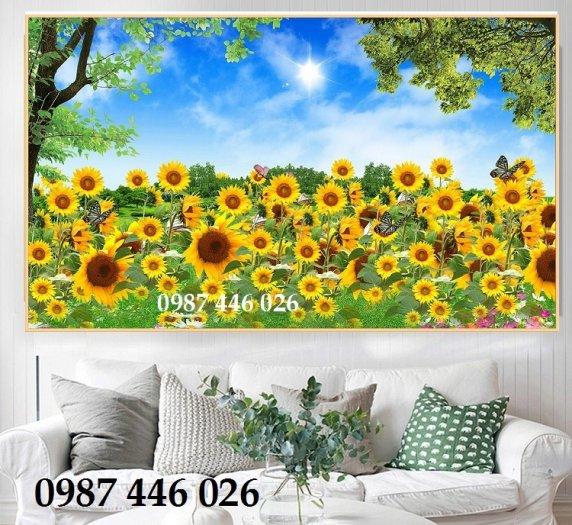 Tranh gạch men vườn hoa ốp tường 3d HP08980