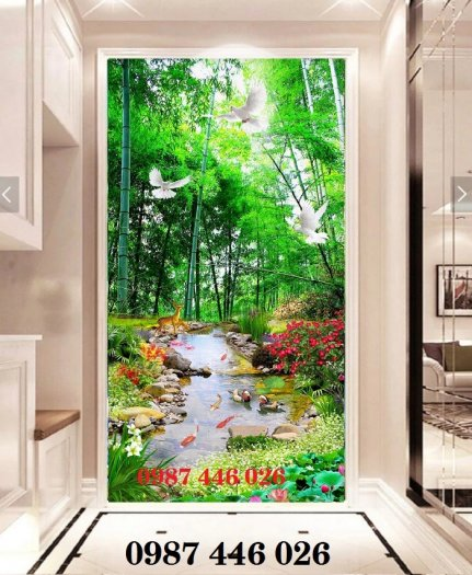 Gạch tranh phong cảnh sân vườn HP8906