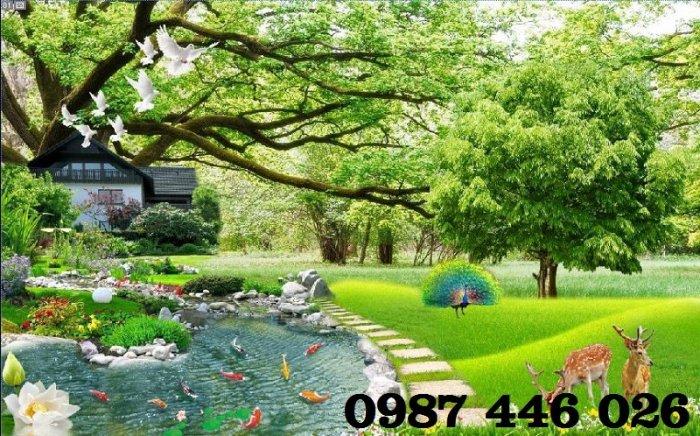 Gạch tranh phong cảnh sân vườn HP8904