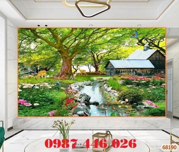Gạch tranh phong cảnh sân vườn HP8903