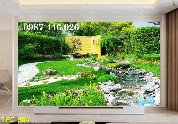 Gạch tranh phong cảnh sân vườn HP8902