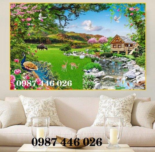 Gạch tranh phong cảnh sân vườn HP8901