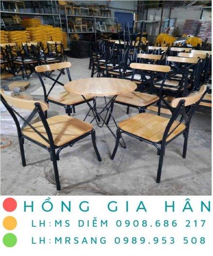 Bàn ghế cafe giá rẻ Hồng Gia Hân BGS330