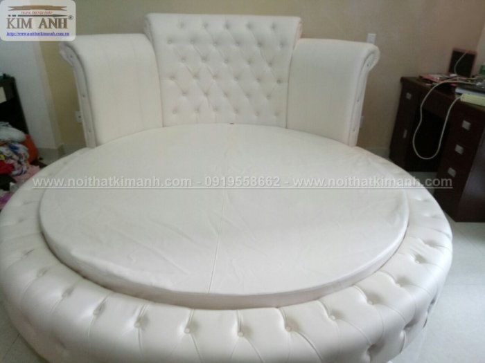 30 mẫu giường tròn sành điệu nhất năm 2021 cho phòng ngủ của bạn tại Dầu Tiếng - Bình Dương11