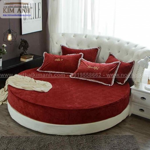 30 mẫu giường tròn sành điệu nhất năm 2021 cho phòng ngủ của bạn tại Dầu Tiếng - Bình Dương3