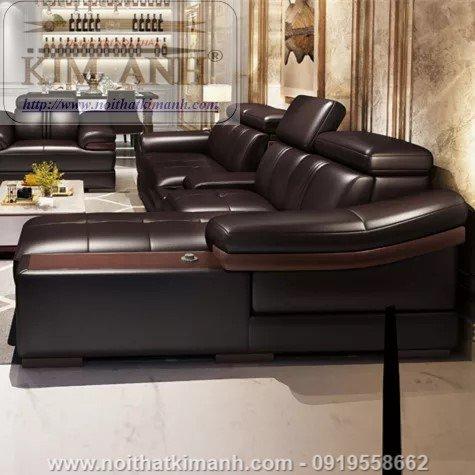 15 Bộ sofa góc chữ L đẹp bằng gỗ da và vải bán chạy nhất 2021 tại Bình Dương5