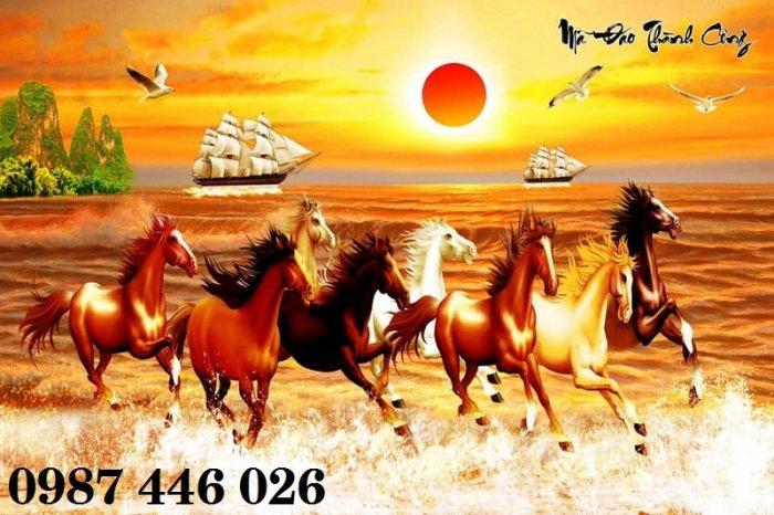 Tranh gạch men ngựa mã đáo thành công ốp tường HP5295