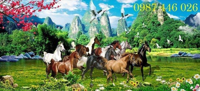 Tranh gạch men ngựa mã đáo thành công ốp tường HP5291