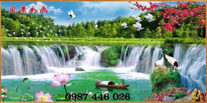 Tranh gạch phong cảnh thiên nhiên tuyệt đẹp HP909019