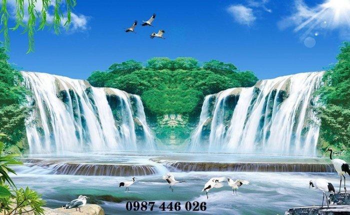 Tranh gạch phong cảnh thiên nhiên tuyệt đẹp HP909018