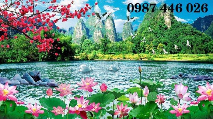 Tranh gạch phong cảnh thiên nhiên tuyệt đẹp HP909017