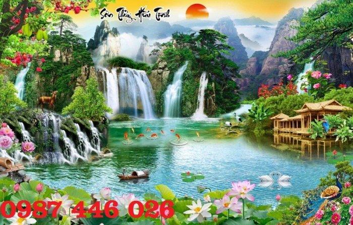 Tranh gạch phong cảnh thiên nhiên tuyệt đẹp HP909015
