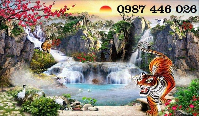 Tranh gạch phong cảnh thiên nhiên tuyệt đẹp HP909013