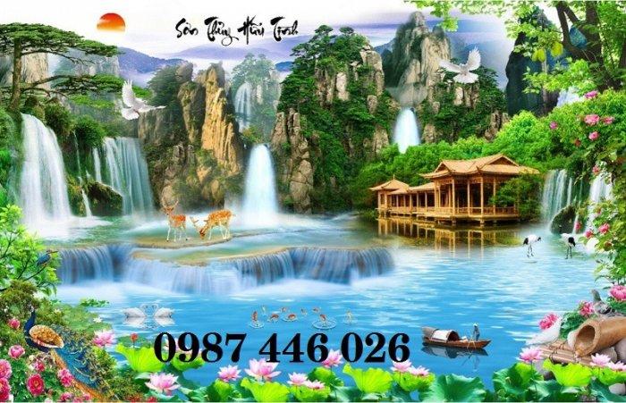 Tranh gạch phong cảnh thiên nhiên tuyệt đẹp HP909012
