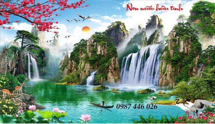 Tranh gạch phong cảnh thiên nhiên tuyệt đẹp HP909011