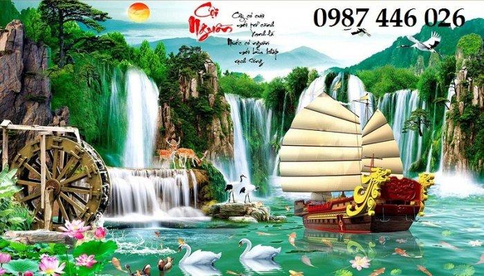 Tranh gạch phong cảnh thiên nhiên tuyệt đẹp HP909010