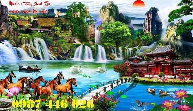 Tranh gạch phong cảnh thiên nhiên tuyệt đẹp HP90908