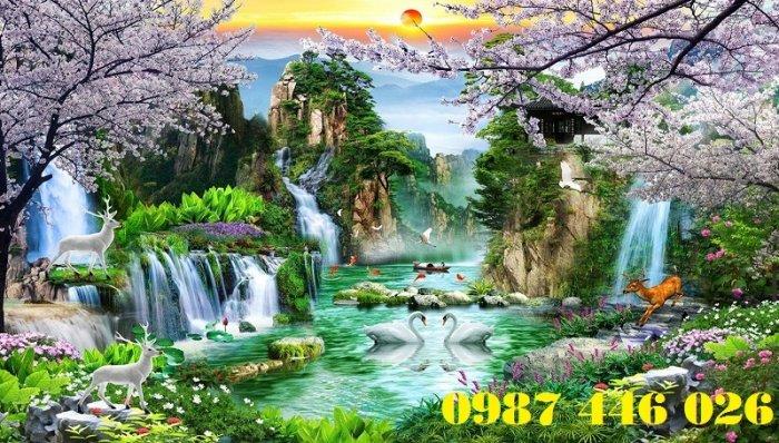 Tranh gạch phong cảnh thiên nhiên tuyệt đẹp HP90907