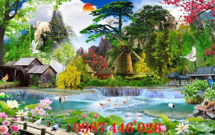 Tranh gạch phong cảnh thiên nhiên tuyệt đẹp HP90901