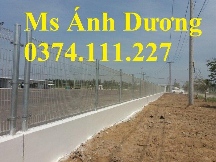 Hàng rào lưới thép mạ kẽm gập 2 đầu, lưới thép hàng rào sơn tĩnh điện gập 2 đầu,12
