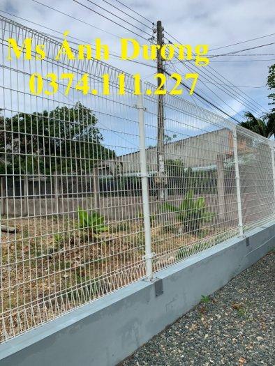 Hàng rào lưới thép mạ kẽm gập 2 đầu, lưới thép hàng rào sơn tĩnh điện gập 2 đầu,10