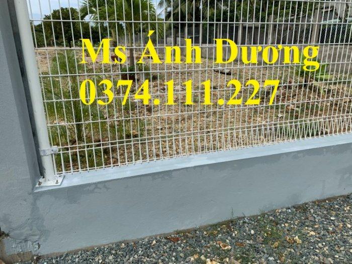 Hàng rào lưới thép mạ kẽm gập 2 đầu, lưới thép hàng rào sơn tĩnh điện gập 2 đầu,9
