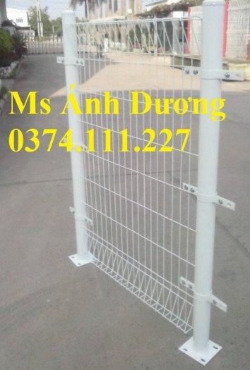 Hàng rào lưới thép mạ kẽm gập 2 đầu, lưới thép hàng rào sơn tĩnh điện gập 2 đầu,8