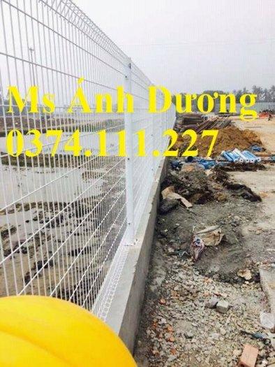 Hàng rào lưới thép mạ kẽm gập 2 đầu, lưới thép hàng rào sơn tĩnh điện gập 2 đầu,3