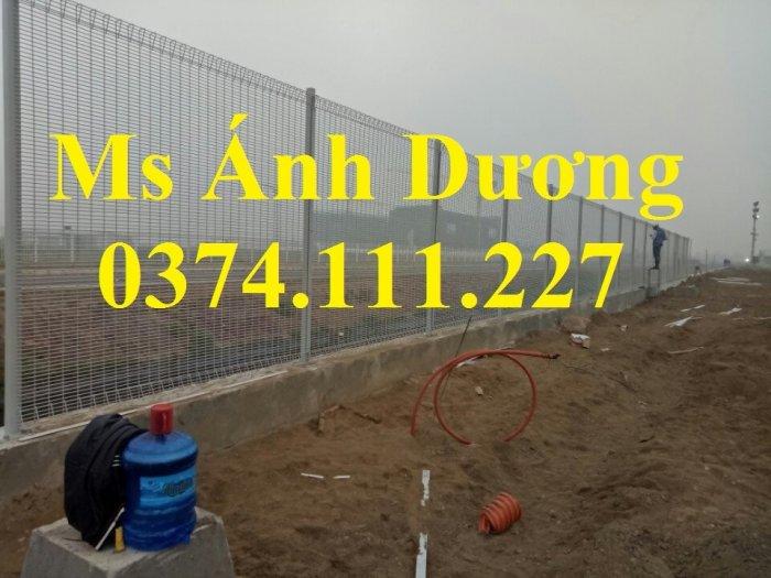 Hàng rào lưới thép mạ kẽm gập 2 đầu, lưới thép hàng rào sơn tĩnh điện gập 2 đầu,0