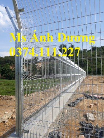 Lưới thép hàng rào chấn sóng mạ kẽm, hàng rào lưới thép mạ kẽm chấn sóng,9