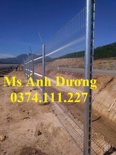 Lưới thép hàng rào chấn sóng mạ kẽm, hàng rào lưới thép mạ kẽm chấn sóng,2