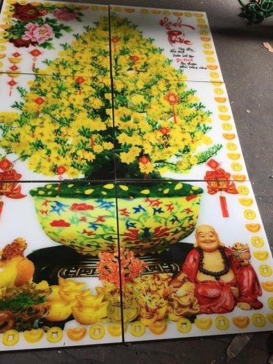 Tranh gạch men hoa mai ốp tường HP0886