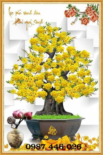 Tranh gạch men hoa mai ốp tường HP0883