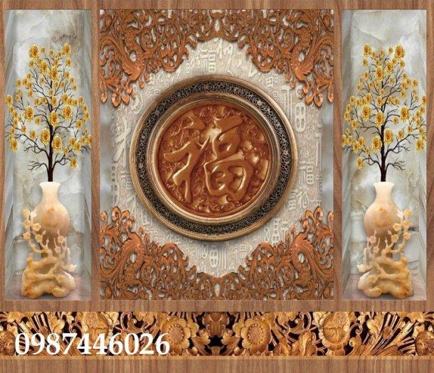Tranh gạch men phòng thờ đẹp trang trí HP90018