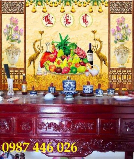 Tranh gạch men phòng thờ đẹp trang trí HP90017