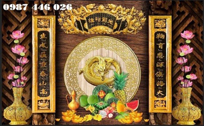 Tranh gạch men phòng thờ đẹp trang trí HP90014