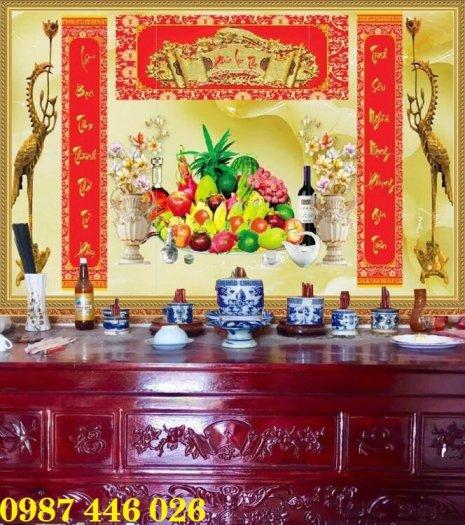 Tranh gạch men phòng thờ đẹp trang trí HP90010