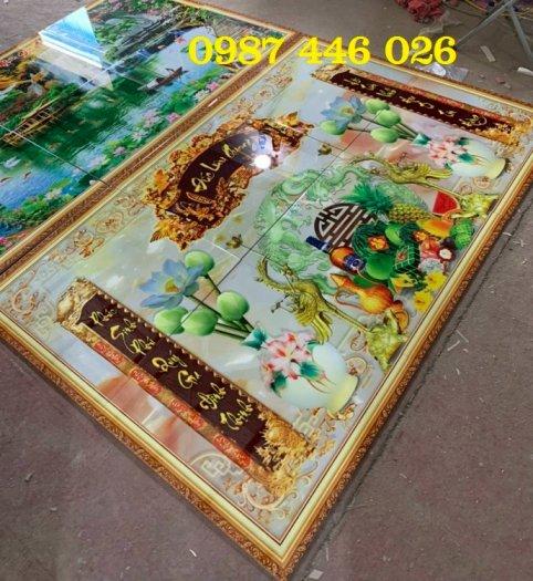 Tranh gạch men phòng thờ đẹp trang trí HP9003
