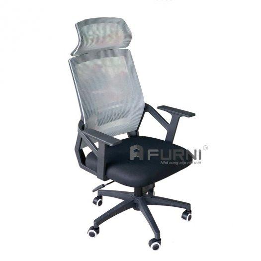 Ghế làm việc ghế văn phòng ghế nhân viên lưng lưới cao có tựa đầu giá rẻ nhập khẩu Hồ Chí Minh CM4289-M0